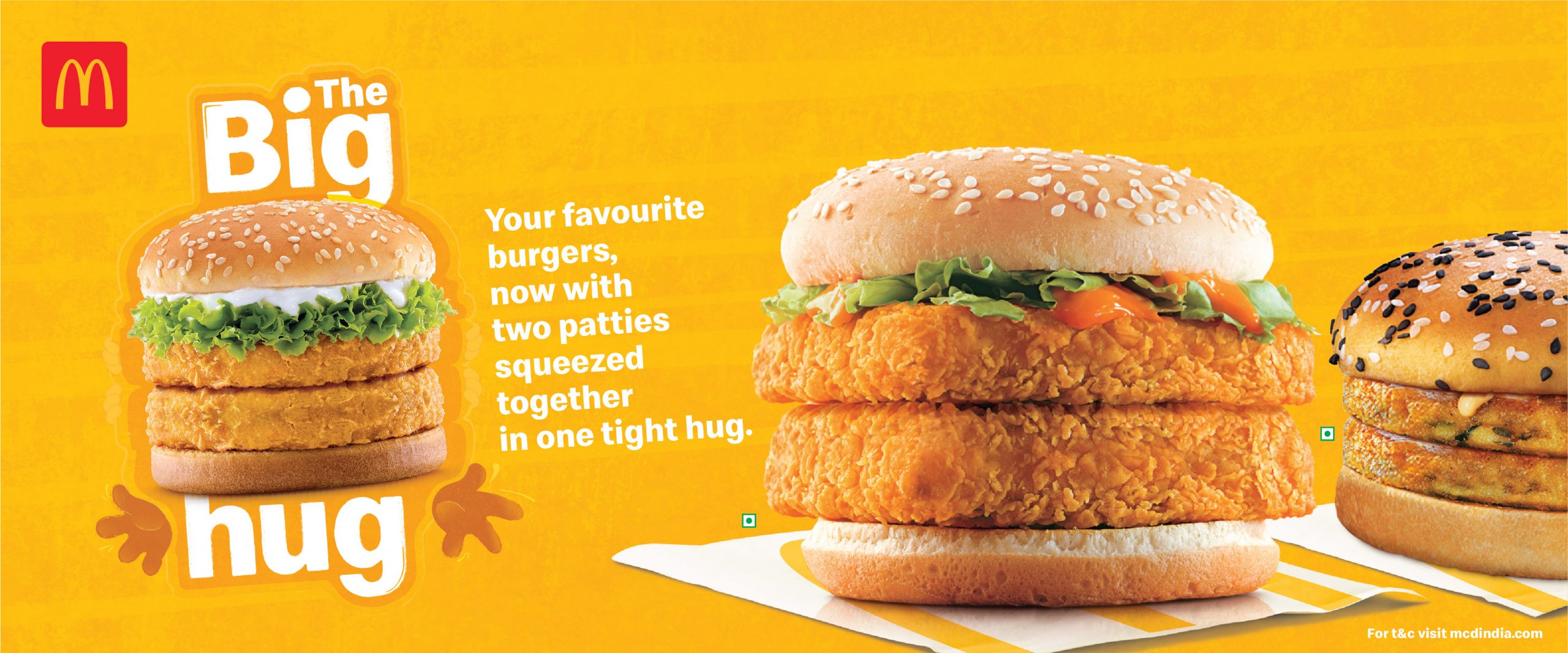 McDonald's India – North and East Has Launched Double Patty Variants!